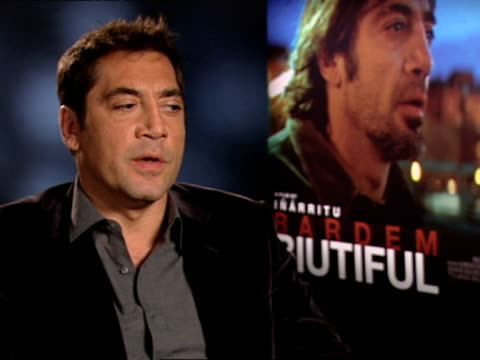 Javier Bardem on the his role and what the audience can expect at the INTERVIEW Biutiful at London England