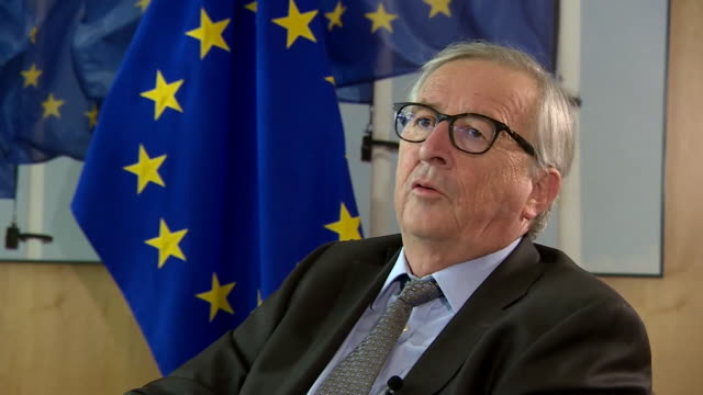 interview jeanclaude juncker outgoing head of the european commission says he wouldn't be tempted to stay in the job to see brexit through no i've... - brussels capital region stock videos & royalty-free footage