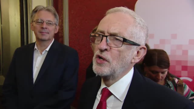 "interview jeremy corbyn, labour leader, about new brexit deal ""the deal he has proposed is heading britain in the direction of a de-regulated... - labour party stock videos & royalty-free footage"