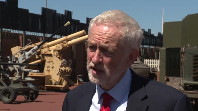 interview jeremy corbyn labour leader in hartlepool about chris williamson being readmitted to the labour party after suspension over anti semitism... - jeremy corbyn stock videos and b-roll footage