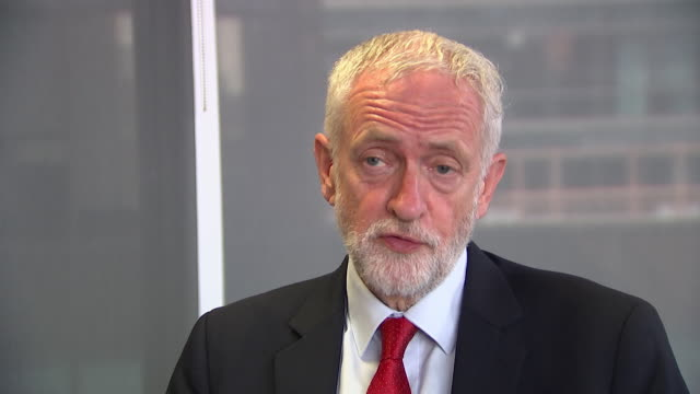 interview jeremy corbyn labour leader opinion on boris johnson being conservative party leader i'm ready for a general election at any time - general election stock videos & royalty-free footage