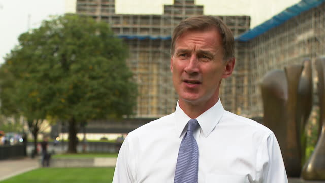 """interview jeremy hunt mp health select committee about coronavirus test shortages it is vital the health secretary does solve this problem - """"bbc news"""" stock videos & royalty-free footage"""