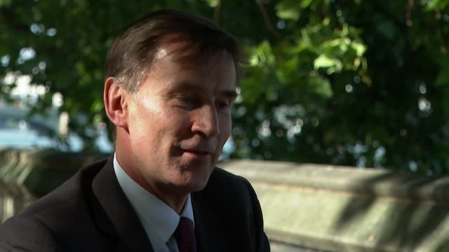 """interview jeremy hunt mp health select committee says the next big step needed during coronavirus pandemic is mass testing - """"bbc news"""" stock videos & royalty-free footage"""