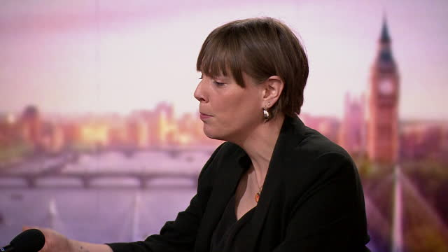 interview jess phillips, shadow minister for domestic violence, on andrew marr show, criticises policing of vigil held for sarah everard on clapham... - party social event stock videos & royalty-free footage