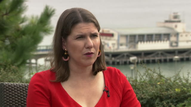 interview jo swinson liberal democrat leader about their plan to revoke article 50 being undemocratic i don't accept that because parliament rejected... - bournemouth england stock videos & royalty-free footage
