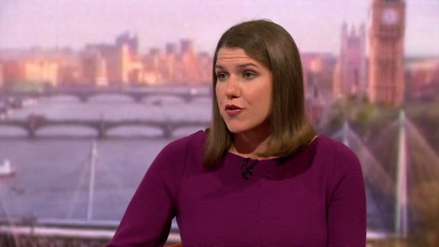 stockvideo's en b-roll-footage met interview jo swinson liberal democrat leader on andrew marr show says i don't think there is a good brexit deal every brexit either with a blue or... - andrew marr