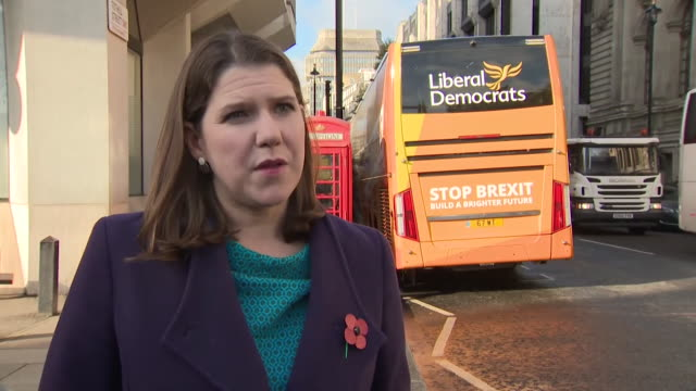interview jo swinson liberal democrat leader on forming a general election with pact with the green party and plaid cymru we can put aside party... - agreement stock videos & royalty-free footage