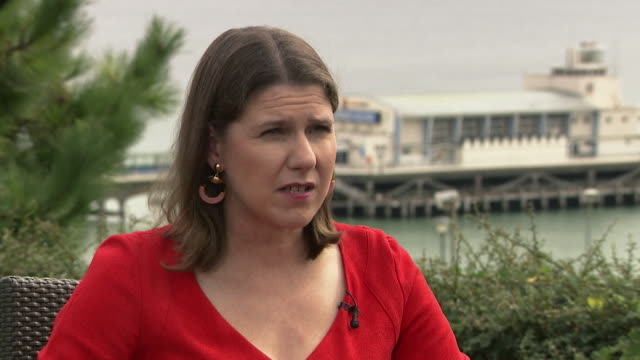 interview jo swinson liberal democrat leader says she wouldn't form a coalition i am not going to support johnson or corbyn because our country... - bournemouth england stock videos & royalty-free footage