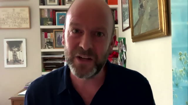 interview john hardie, cbi, about why people are continuing to work from home following coronavirus lockdown - teleworking stock videos & royalty-free footage