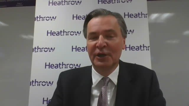 interview john hollandkaye ceo heathrow airport about coronavirus quarantine restrictions with spanish travel and how double tests could be the answer - aerospace stock videos & royalty-free footage