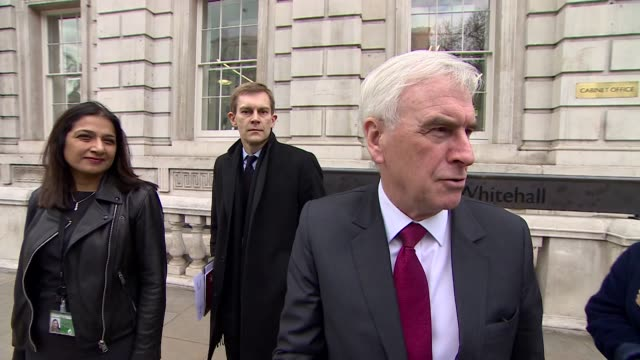 Interview John McDonnell Shadow Chancellor about Brexit talks 'We're trying to be as positive and constructive as we can be on all sides'