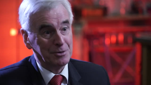 interview john mcdonnell shadow chancellor about investment and borrowing i've been arguing we need to invest the tories aren't willing to recognise... - john mcdonnell politician videos stock videos & royalty-free footage