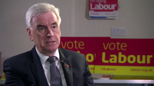 interview john mcdonnell shadow chancellor on the slowest annual growth rate in a decade for the uk economy no one can be pleased with these figures... - john mcdonnell politician videos stock videos & royalty-free footage