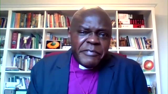 interview john sentamu, former archbishop of york, following the death of duke of edinburgh, pays tribute to his devotion to the queen - respect stock videos & royalty-free footage