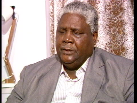 interview joshua nkomo on motion to sack him england london intvwsof i did make it very clear is not there / cas ex eng 039mins / tx'd 14883/945pm /... - joshua nkomo stock videos & royalty-free footage