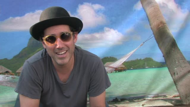 joshua radin on the title of his album at the hard rock calling at london england - album title stock videos and b-roll footage