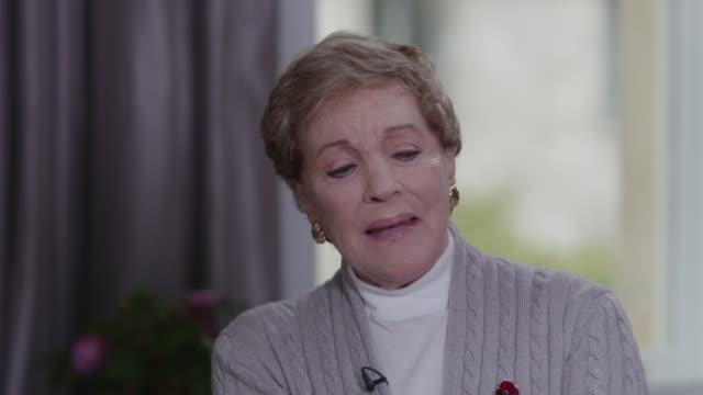 interview julie andrews, actress, talks about being shocked to win an oscar for mary poppins - julie andrews stock videos & royalty-free footage