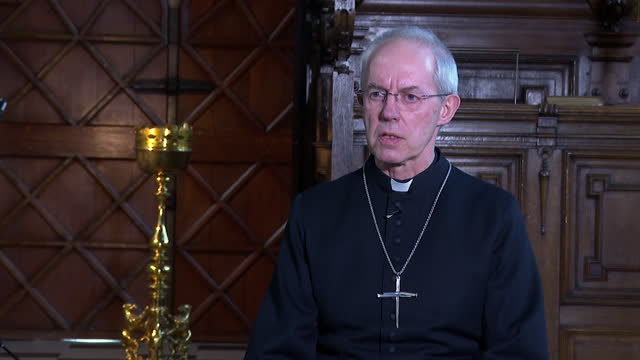 "interview justin welby, archbishop of canterbury, pays tribute to duke of edinburgh following his death ""what a remarkable life, what a wonderful... - respect stock videos & royalty-free footage"