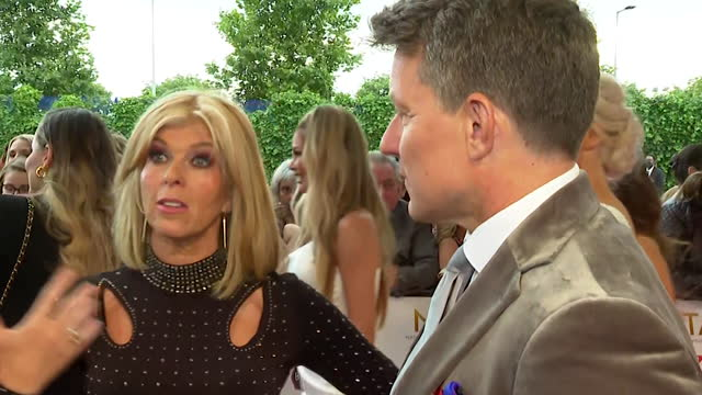 """interview kate garraway and ben shephard, on red carpet at nta awards 2021, about attending the awards ceremony post coronavirus pandemic - """"bbc news"""" stock videos & royalty-free footage"""