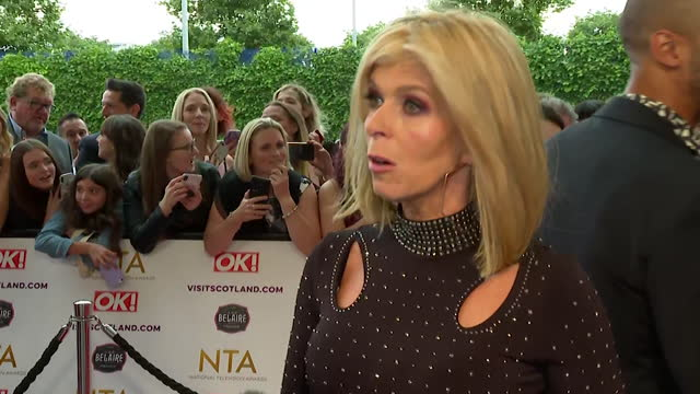 interview kate garraway, on red carpet at nta awards 2021, about her documentary 'finding derek', about her husband derek draper who was struck down... - husband stock videos & royalty-free footage