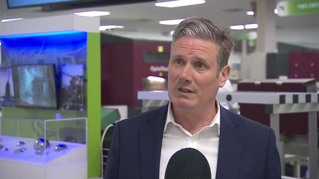 """interview keir starmer, labour leader, about being cautious about foreign travel during coronavirus pandemic """"we won't be safe here until the virus... - western europe stock videos & royalty-free footage"""