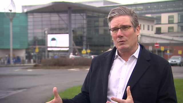 """interview keir starmer, labour leader, about cuts to nhs funding that was """"hidden"""" in the budget - investment stock videos & royalty-free footage"""