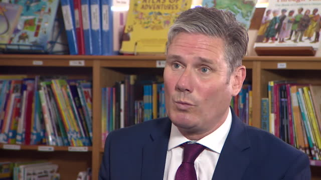 """interview keir starmer, labour leader, about people having to travel large distances to get coronavirus tests """"we were promised a world beating... - distant stock videos & royalty-free footage"""