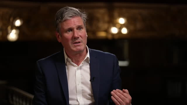 """interview keir starmer, labour leader, about speaking with traditional labour voters who haven't been voting for the party """"there is a trust issue... - tradition stock videos & royalty-free footage"""