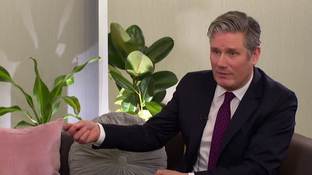 interview keir starmer, labour leader, about the british recovery bond, allowing savers to invest in the uk's recovery from the coronavirus pandemic,... - the way forward stock videos & royalty-free footage
