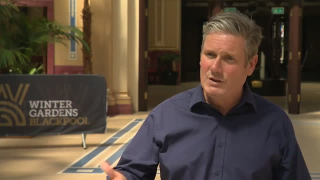 interview keir starmer, labour leader, about the government's plans to level up the poorer areas of the country - party social event stock videos & royalty-free footage