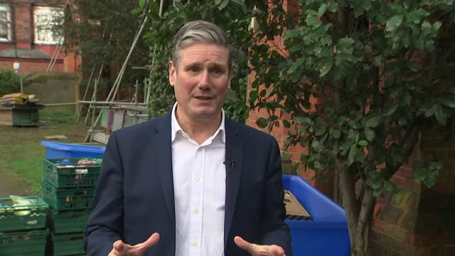 "interview keir starmer, labour leader, about the increase in universal credit benefit to continue ""the government wants to get rid of that uplift... - ""bbc news"" stock videos & royalty-free footage"