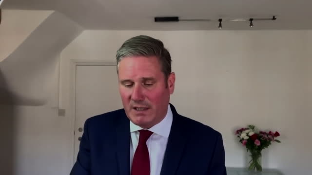 interview keir starmer labour leader speaking at tuc conference about unemployment rising as coronavirus furlough scheme ends target those sectors... - finance and economy stock videos & royalty-free footage