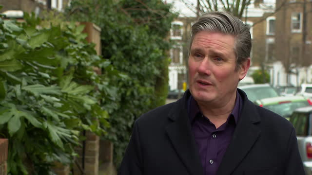 interview keir starmer, labour leader, who is against the proposed one per cent pay increase for nhs workers - symbol stock videos & royalty-free footage