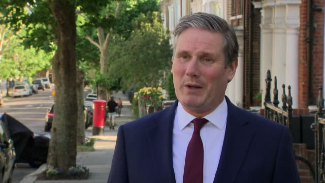 interview keir starmer mp labour leader about boris johnson throughout the dominic cummings lockdown scandal he has been too weak throughout this... - politics and government stock videos & royalty-free footage