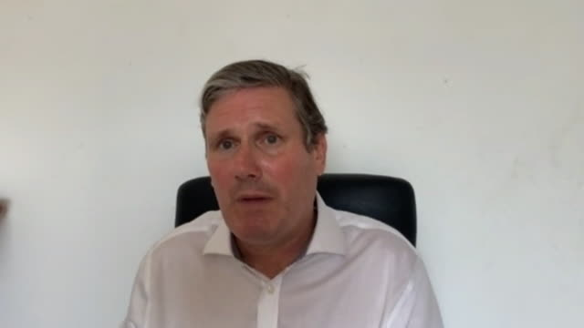 interview keir starmer mp labour leader on why he sacked rebecca long bailey from the shadow cabinet for retweeting article that described... - shadow stock videos & royalty-free footage