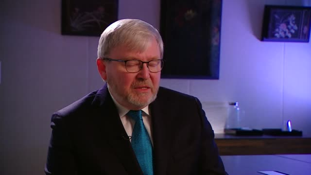 Interview Kevin Rudd former Australian Prime Minister about the effect of Brexit on Britain 'If Britain leaves the EU the world will look at Britain...