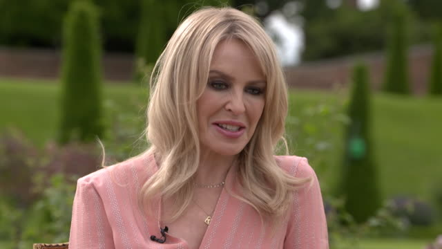 interview kylie minogue about what it means to her to perform at glastonbury - performance stock videos & royalty-free footage
