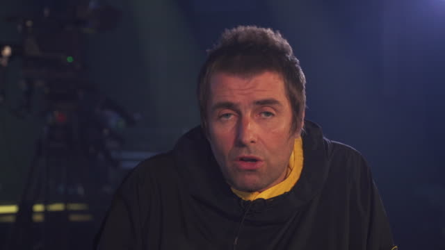 Interview Liam Gallagher about performing on the same bill as Janet Jackson at Glastonbury