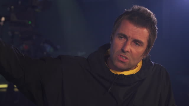 interview liam gallagher, about playing at glastonbury - somerset england stock videos & royalty-free footage