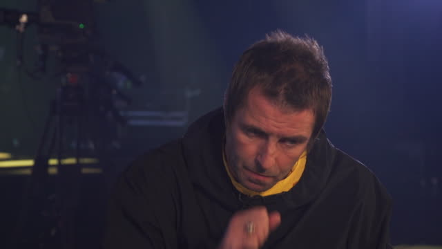 interview liam gallagher about the tv show love island and he likens it to doing drugs - music stock videos & royalty-free footage