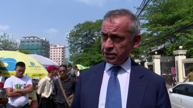 "interview lord darzi, advisor to myanmar government about the release from prison of two reuters journalists ""what i have learnt is that dialogue... - journalismus stock-videos und b-roll-filmmaterial"