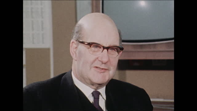 interview lord fiske, chairman decimal currency board, about how the british public won't find decimalisation confusing - money politics stock videos & royalty-free footage
