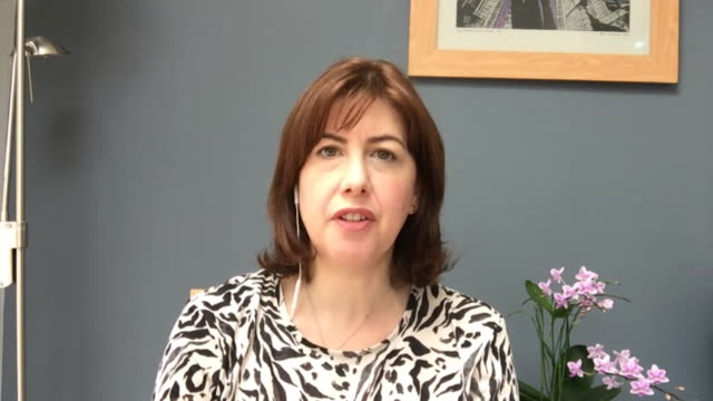 interview lucy powell mp, labour, about supporting wearing face masks in shops during coronavirus pandemic and lack of clarity from government around... - transparent stock videos & royalty-free footage
