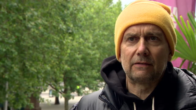 interview marc quinn, artist, on why he put up statue of black lives matter protester jen reid, put in the place where edward colston's statue once... - standing stock videos & royalty-free footage