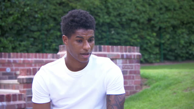 interview marcus rashford footballer about growing up in poverty is the reason why he is campaigning now for free school meal vouchers to be provided... - childhood stock videos & royalty-free footage