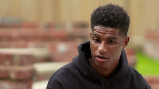 interview marcus rashford footballer about his conversation with pm boris johnson over his u turn on rashford's campaign for free school meals over... - school meal stock videos & royalty-free footage