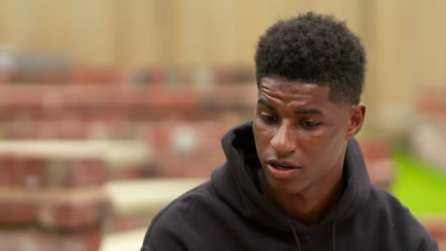 interview marcus rashford footballer about why his background caused him to campaign for free school meals over summer holidays for people living in... - fitness stock videos & royalty-free footage