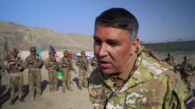 interview masoud andarabi, afghan interior minister, about how the deadline for international troops to be pulled out of afghanistan could be... - kabul stock videos & royalty-free footage