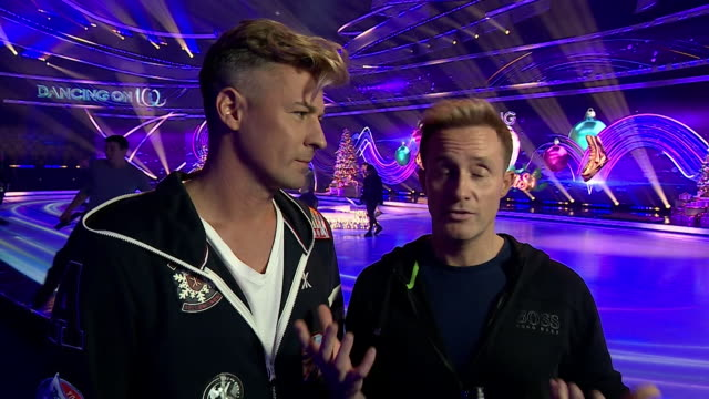 interview matt evers and ian h watkins as dancing on ice first same sex couple comment on the complaints strictly come dancing received when two male... - ice skating stock videos & royalty-free footage