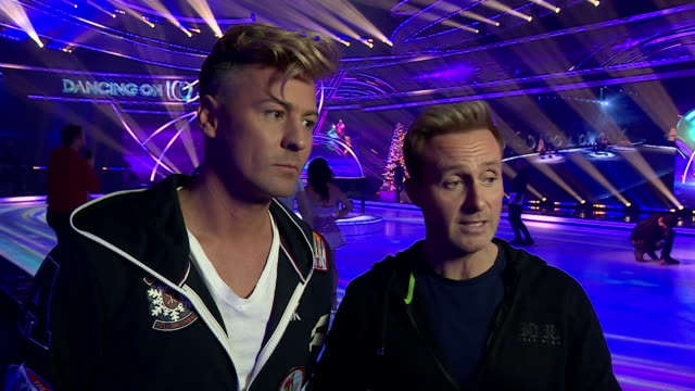 interview matt evers and ian h watkins dancing on ice first same sex couple speak about the importance of having same sex couples on tv - ice skating stock videos & royalty-free footage